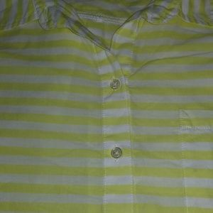 Old Navy long striped half button up top